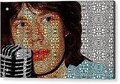 Rock Legend - Mick Jagger Tribute Acrylic Print by Sharon Cummings
