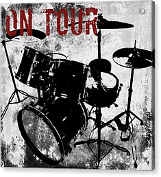 Rock N Roll Percussion  Acrylic Print by Mindy Sommers