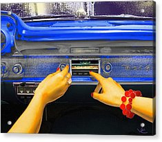 Rock N Roll Radio Acrylic Print
