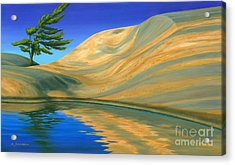 Acrylic Print featuring the painting Rock Of Ages by Michael Swanson