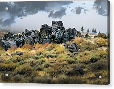 Acrylic Print featuring the photograph Rock Outcrop by Frank Wilson