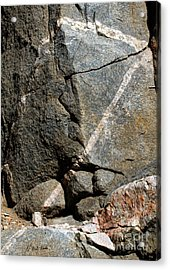 Rock Patterns-signed-#9753 Acrylic Print