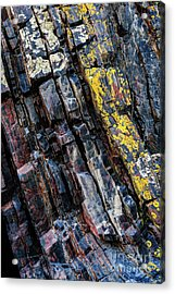 Acrylic Print featuring the photograph Rock Pattern Sc02 by Werner Padarin
