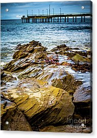 Acrylic Print featuring the photograph Rock Pier by Perry Webster