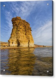 Acrylic Print featuring the photograph Rock Pillar At Wilson Lake by Rob Graham