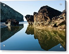 Rock Pool Acrylic Print by David Wilkins