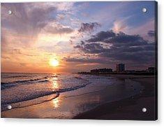 Rock Rock Rockaway Beach Acrylic Print