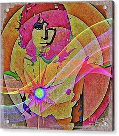 Acrylic Print featuring the digital art Rock Star by Eleni Mac Synodinos