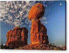 Rock, Sun, Cloud, And Sky Acrylic Print