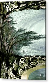 Acrylic Print featuring the photograph Rock Tunnel by Pennie  McCracken