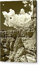 Acrylic Print featuring the photograph Rock Wall And Sky by Pete Hellmann