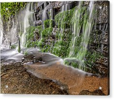 Rock Wall Waterfall Acrylic Print
