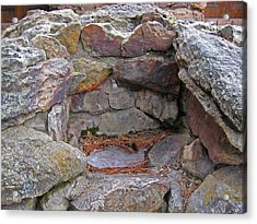 Acrylic Print featuring the photograph Rock Water Fountain by Tammy Sutherland
