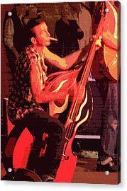 Rockabilly Bass Player Acrylic Print by Andy Jeter