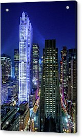 Acrylic Print featuring the photograph Rockefeller At Night by M G Whittingham