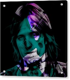 Acrylic Print featuring the mixed media Rocker Tom Petty by Marvin Blaine