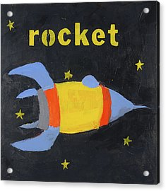 Rocket Acrylic Print by Laurie Breen
