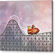 Rocket Me Rollercoaster Acrylic Print by Dennis Wunsch