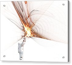 Rocket Propulsion Ignition Acrylic Print by Jan Piller