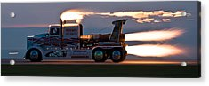 Rocket Truck At Dusk Acrylic Print