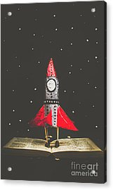 Rockets And Cartoon Puzzle Star Dust Acrylic Print