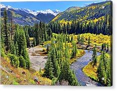 Rockies And Aspens - Colorful Colorado - Telluride Acrylic Print