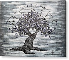 Acrylic Print featuring the drawing Rockies Love Tree by Aaron Bombalicki