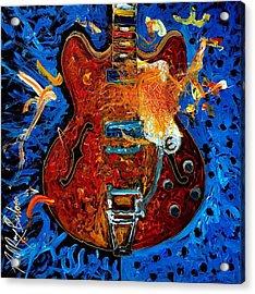 Rockin Epiphone Acrylic Print