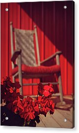 Acrylic Print featuring the photograph Rockin' Red by Jessica Brawley