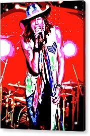 Rockin' Steven Acrylic Print by Nathaniel Price