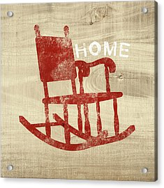 Rocking Chair Home- Art By Linda Woods Acrylic Print
