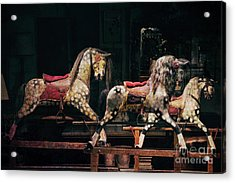 Rocking Horses Acrylic Print by Tim Gainey