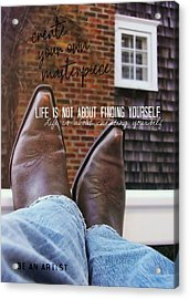 Rocking Kicks Quote Acrylic Print by JAMART Photography