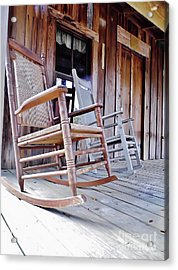 Rocking On The Front Porch Acrylic Print