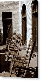 Rocking To Relax Acrylic Print by Karen Musick