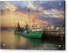 Rockland Fishing Pier Acrylic Print by Lori Deiter