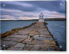 Rockland Harbor Breakwater Light Acrylic Print