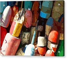 Rockport Buoys Acrylic Print