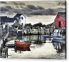 Rockport Harbor Early Morning Acrylic Print by Tom Cameron