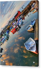 Acrylic Print featuring the photograph Rockport Harbor Motif #1  by Joann Vitali