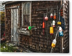 Rockport Lobster Shack Acrylic Print by Susan Candelario
