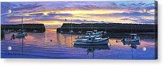 Rockport Ma Sunset Acrylic Print by Bruce Dumas