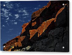 Sky And Rocks Acrylic Print by Alex Galkin