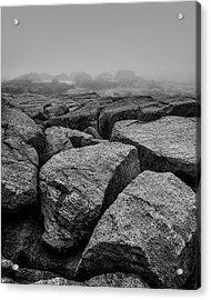 Rocks And Fog Acrylic Print