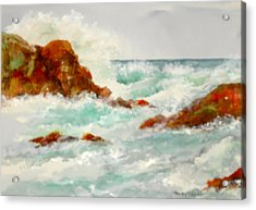 Rocks And Ocean Acrylic Print