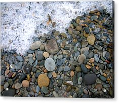Rocks And Pebbles Acrylic Print