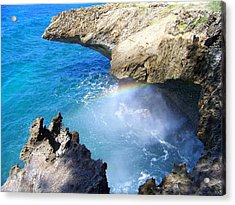 Rocks And Rainbow Acrylic Print