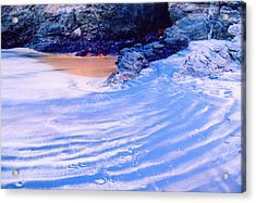 Acrylic Print featuring the photograph Rocks And Sand 2 by Lyle Crump