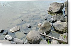 Rocks And Water Acrylic Print