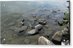 Rocks And Water Too Acrylic Print